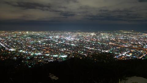 藻岩山展望台の夜景
