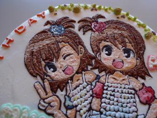 シャイニースマイル 亜美真美誕生ケーキ