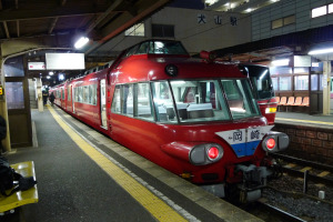 パノラマカー 7000系 犬山駅にて
