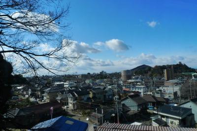犬山モノレールから犬山の街並みを眺める