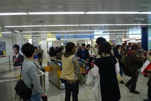 大阪難波駅改札前