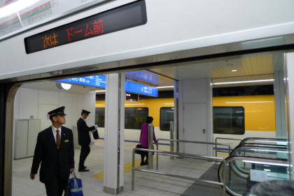 桜川駅で近鉄と阪神の乗務員が交代して、引き上げ線もあるとか